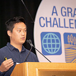 Denny Luan, Co-founder of Experiment.com, announces the invasive species challenge grant