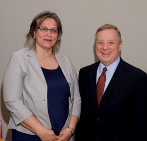 Dr. Marianne Alleyne and Sen. Richard Durbin (D-IL), May 2015