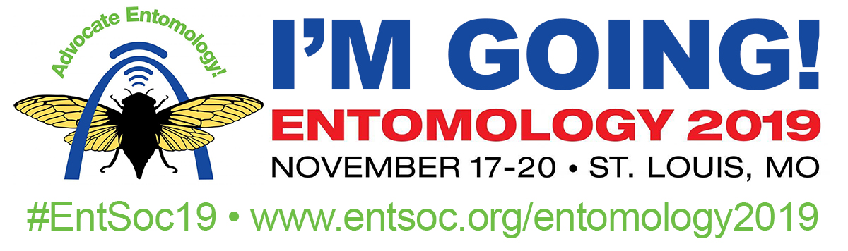 "Entomology 2019 ""I'm Going"" web badge"